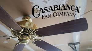 Murray Feiss Fans Casablanca First Home Ceiling Fan Youtube