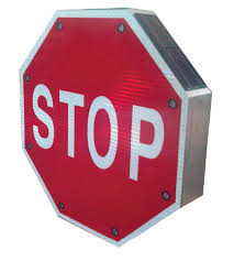 stop sign with led lights traffic safety equipment co traffic signs cones barricades
