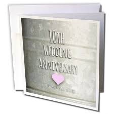 10 year wedding anniversary gifts for popular anniversary cards for 3drose 10th wedding