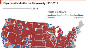 Election Map Interactive A Country Divided By Counties Daily Chart