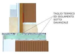 ponte termico davanzale davanzale finestra taglio termico davanzale sezione davanzale