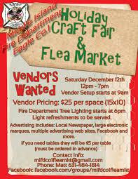 middle island fire department holiday craft fair u0026 flea market
