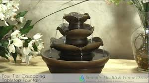 Home Decor Water Fountains by Interior Design Three Tier Cascading Tabletop Fountain Youtube