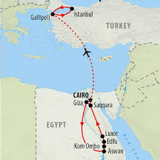 Bosphorus Strait Map Anzac Day Tour 2017 To Egypt U0026 Turkey On The Go Tours Us