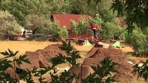 bmx dirt jumping brian banghart u0027s backyard trails youtube