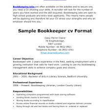 Bookkeeper Sample Resume Bookkeeper Resume Samples Eager World Professional Resumes
