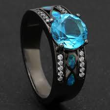 aliexpress buy mens rings black precious stones real glow in the wedding rings new aliexpress buy hainon luxury opal