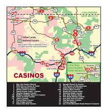 Map Of Albuquerque New Mexico by Casino Map