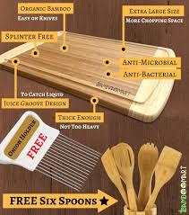 Kitchen Utensils Bamboo Cutting Board With 6 Piece Kitchen Utensils Set U0026 Onion