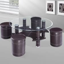 round coffee table with 4 stools stools round coffee tables you ll love wayfair