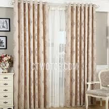Plum Flower Curtains Decorative Bedroom Beige Blackout Curtains