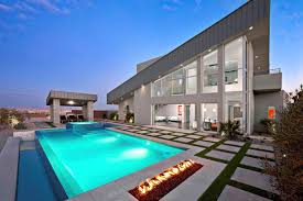 large modern build a pool that has grey deck floor can add the