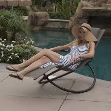 Rocking Chair Outdoor Furniture Orbital Folding Zero Lounger Chair Outdoor Patio Pool Neach Steel