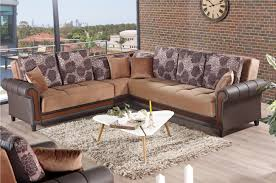 idaho brown fabric sectional sofa by empire furniture usa