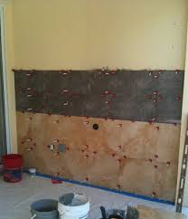 Installing Tile On Walls Ceramictec Large Format Porcelain Tile Lanai Grill Wall