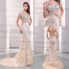 dh prom dresses 2014 open back sequins rhinestones mermaid court prom dresses