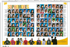 class yearbook like across the bottom of page great idea to increase