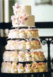 simple wedding cakes with cupcakes google search wedding