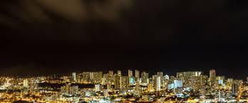 Honolulu City Lights Night Aerial View Honolulu Hawaii Stock Images 40 Photos