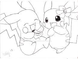 pikachu drawings in love