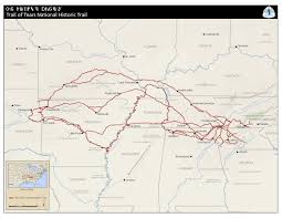 Virginia Capital Trail Map by Maps Trail Of Tears National Historic Trail U S National Park