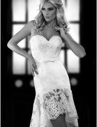aliexpress com buy fashion romantic high low short lace wedding