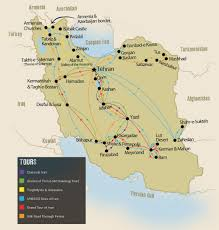 Spirit Route Map by Authentic Iran Tours U0026 Holidays Travel The Unknown