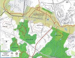 Lexington And Concord Map Properties And Trails U2013 Lincoln Land Conservation Trust And Rural