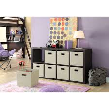 amazon com member u0027s mark 8 cube room organizer dark oak home