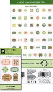 cricut lite cartridge lacy labels