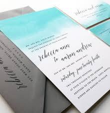 new rebecca teal watercolor wedding invitation sample