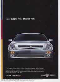 cadillac sts vintage car ads