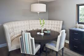 dining room table with banquette seating bench decoration