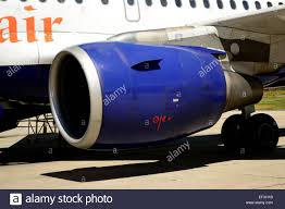 rolls royce jet engine rolls royce aircraft engine in an airbus a320 stock photo royalty