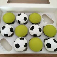 football cupcakes tennis football cupcakes