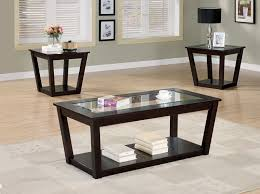 glass coffee and end tables interior magnificent dark wood coffee table sets 11 black and end