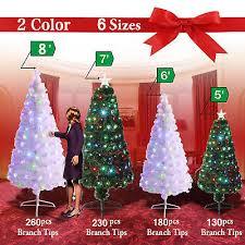 artificial christmas trees multi colored lights pre lit fiber optic 3 8 artificial christmas tree led multicolor