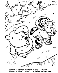printable color by number coloring pages best winter