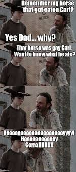 Walking Dead Rick Crying Meme - poor coral funny humor funny pictures and walking dead