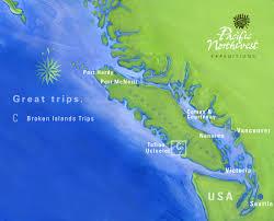 Kayak Map Sea Kayaking Trips In The Broken Group Islands British Columbia