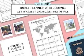 travel planner template a5 stationery templates creative market