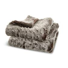 Faux Fur Throw Grey Kinsley Grey Faux Fur Throw Departments Diy At B U0026q