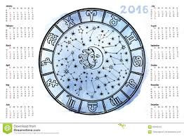 Astrology Sign Zodiac Sign Horoscope Circle 2016 Year Stock Vector Image 62942122