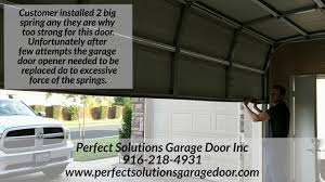 Garage Size by Wrong Size Spring For Your Garage Door Youtube