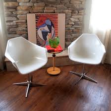 retro swivel chairs pair vintage mid century modern shell armchairs set of 2 w u2026 flickr