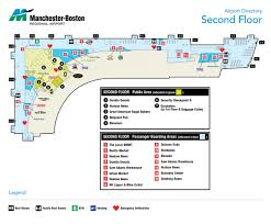 terminal maps manchester boston regional airport