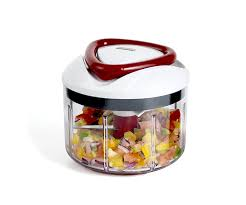 zyliss easypull manual food processor 750 ml white grey red