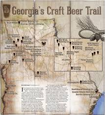 Atlanta Maps by Map Georgia U0027s Craft Beer Trail
