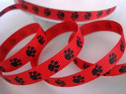 dog ribbon embellishment world ribbon grosgrain print ribbon size 3
