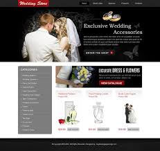 wedding accessories store wedding store website design psd 010 website template psd sale